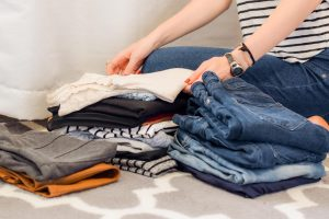 decluttering and organising clothes