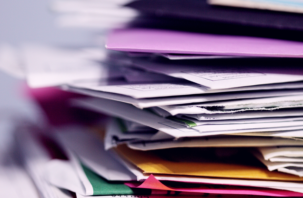 Piles of papers - organising paperwork